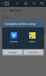 Samsung Galaxy Core Plus - Email - Sending an email message - Step 12