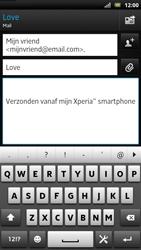 Sony LT22i Xperia P - E-mail - Hoe te versturen - Stap 8