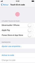 Apple iPhone SE - iOS 11 - Sécuriser votre mobile - Activer le code de verrouillage - Étape 4