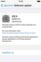 Apple iPhone 4S iOS 9 - Software update - update installeren zonder PC - Stap 5