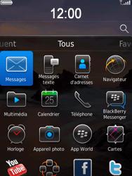 BlackBerry 9800 Torch - Paramètres - Reçus par SMS - Étape 9