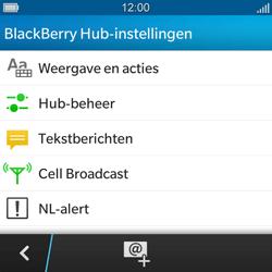 BlackBerry Q5 - SMS - handmatig instellen - Stap 5