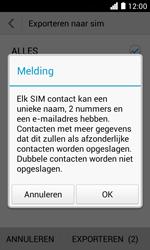 Huawei Ascend Y330 - Contacten en data - Contacten kopiëren van toestel naar SIM - Stap 8