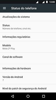 Motorola Moto Z2 Play - Primeiros passos - Como encontrar o número de IMEI do seu aparelho - Etapa 4