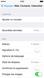 Apple iPhone 5c iOS 8 - E-mail - Configuration manuelle - Étape 4