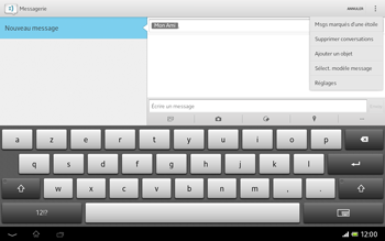Sony SGP321 Xperia Tablet Z LTE - MMS - envoi d'images - Étape 9