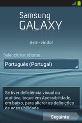 Samsung Galaxy Fame - Primeiros passos - Como ligar o telemóvel pela primeira vez -  3