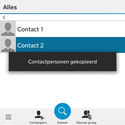 BlackBerry Classic - Contacten en data - Contacten kopiëren van toestel naar SIM - Stap 9