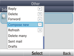 Nokia Asha 201 - E-mail - Sending emails - Step 6
