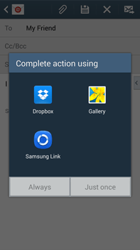 Samsung N9005 Galaxy Note III LTE - Email - Sending an email message - Step 12