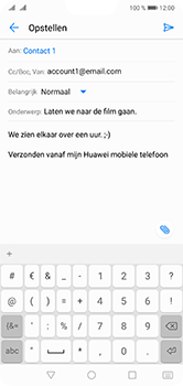 Huawei P20 Lite Dual-SIM (Model ANE-LX1) - E-mail - Bericht met attachment versturen - Stap 9