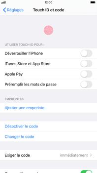 Apple iPhone 8 Plus - iOS 13 - Sécurité - activéz le code PIN de l'appareil - Étape 8