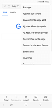 Samsung Galaxy Note 8 - Internet - Navigation sur Internet - Étape 8