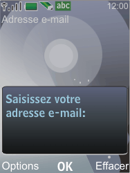 Nokia 7210 supernova - E-mail - Configuration manuelle - Étape 10