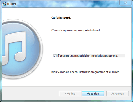 Apple iPhone 4 iOS 7 - Software - Download en installeer PC synchronisatie software - Stap 6