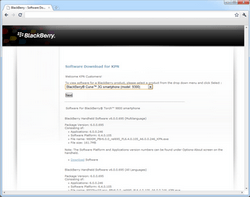 BlackBerry 9300 Curve 3G - Software - Update installeren via PC - Stap 2