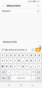 Samsung Galaxy S8 - Mensajería - Escribir y enviar un mensaje multimedia - Paso 12