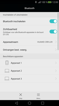 Huawei Mate S (Model CRR-L09) - Bluetooth - Aanzetten - Stap 4