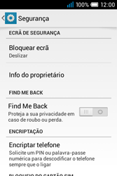 Alcatel POP C1 - Segurança - Como ativar o código de bloqueio do ecrã -  5