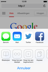 Apple iPhone 4S iOS 7 - Internet - hoe te internetten - Stap 5