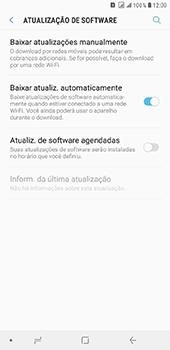 Samsung Galaxy J8 - Funções básicas - Como atualizar o software do seu aparelho - Etapa 5