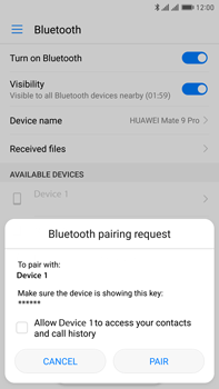 Huawei Mate 9 Pro - Bluetooth - Pair with another device - Step 6