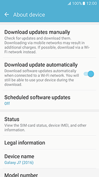 Samsung Galaxy J7 (2016) (J710) - Network - Installing software updates - Step 6