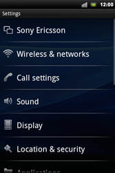Sony Ericsson Xperia Mini Pro - Network - Usage across the border - Step 4