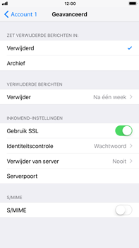 Apple iPhone 6s Plus iOS 11 - E-mail - Account instellen (POP3 zonder SMTP-verificatie) - Stap 22