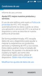 HTC One M9 - Primeros pasos - Activar el equipo - Paso 5
