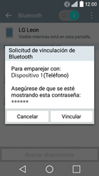 LG Leon - Bluetooth - Conectar dispositivos a través de Bluetooth - Paso 7