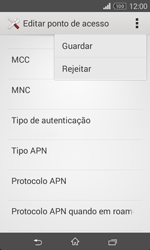 Sony Xperia E1 - Internet no telemóvel - Como configurar ligação à internet -  15