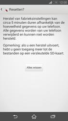 Sony Xperia Z3 4G (D6603) - Instellingen aanpassen - Fabrieksinstellingen terugzetten - Stap 7