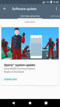 Sony Xperia XA1 Plus - Network - Installing software updates - Step 7