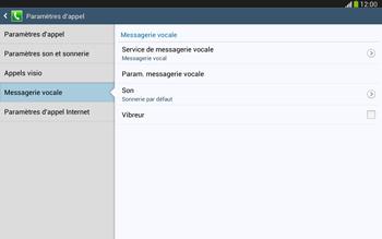 Samsung P5220 Galaxy Tab 3 10-1 LTE - Messagerie vocale - configuration manuelle - Étape 8