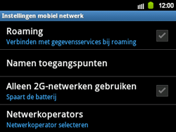 Samsung B5510 Galaxy TXT - Netwerk - gebruik in het buitenland - Stap 8