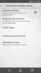 Sony Xpéria Z3 - Aller plus loin - Désactiver les données à l'étranger - Étape 7