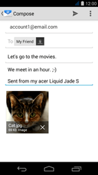 Acer Liquid Jade S - E-mail - Sending emails - Step 16