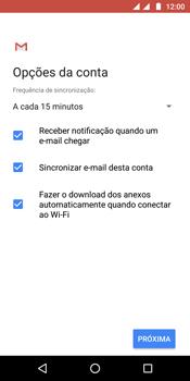 Motorola Moto G6 Plus - Email - Como configurar seu celular para receber e enviar e-mails - Etapa 10