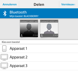 BlackBerry Classic - Contacten en data - Contacten overzetten via Bluetooth - Stap 9