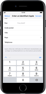 Apple iPhone SE - iOS 12 - Applications - Créer un compte - Étape 17