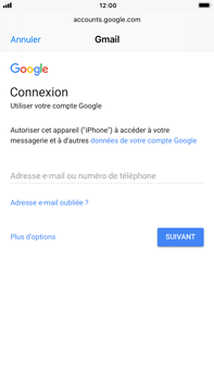Apple iPhone 6 Plus - iOS 11 - E-mail - 032a. Email wizard - Gmail - Étape 6