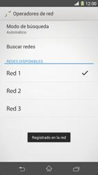 Sony Xperia Z1 - Red - Seleccionar una red - Paso 10