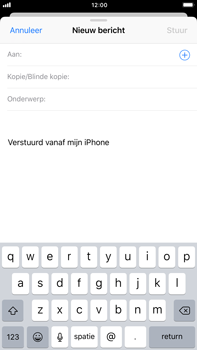 Apple iPhone 6 Plus iOS 11 - E-mail - E-mail versturen - Stap 4