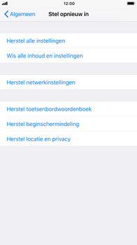 Apple iPhone 6s Plus iOS 11 - Toestel reset - terugzetten naar fabrieksinstellingen - Stap 5