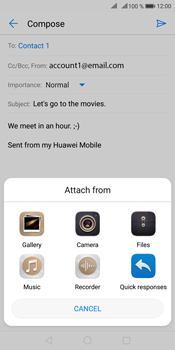 Huawei Mate 10 Pro - Email - Sending an email message - Step 10