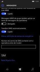 Microsoft Lumia 550 - SMS - Como configurar o centro de mensagens -  10