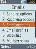 Samsung B2100 Xplorer - E-mail - Manual configuration - Step 8