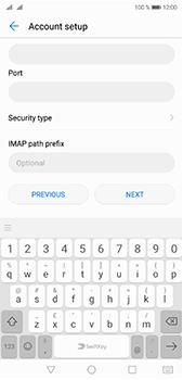 Huawei P20 Pro - E-mail - Manual configuration IMAP without SMTP verification - Step 11