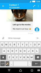 Sony E2303 Xperia M4 Aqua - Mms - Sending a picture message - Step 20